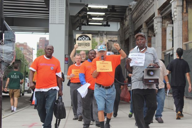 Tenants of the hotel fear they will end up homeless if the alderman does not help them communicate with the developer.