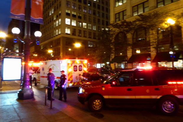 A 24-year-old man was targeted and shot on a CTA Red Line train at the Jackson subway station Downtown Thursday night, police said.