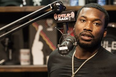 Meek Mill visited a radio station in Baltimore on July 25, 2017.