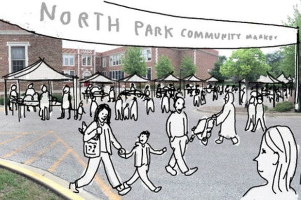 A group of North Park neighbors is organizing a series of pop-up community markets in the fall.