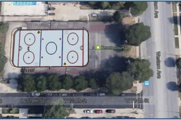 A new street hockey rink will be built in Kennedy Park on the Far Southwest Side, according to 19th Ward Ald. Matt O'Shea. The rink will be built on the southeast corner of the park at 11320 S. Western Ave.