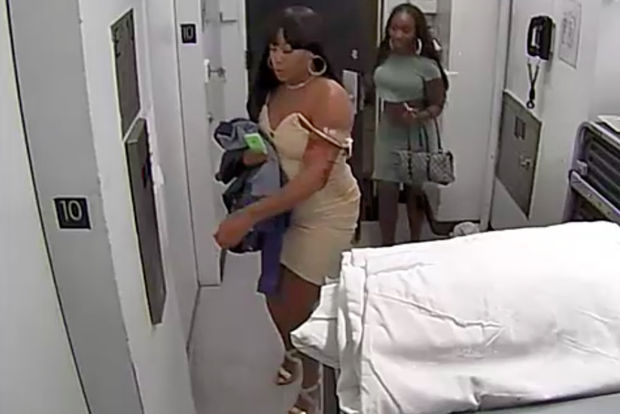 Police say the women fled after they grabbed his watch and $3,000 cash inside the hotel.