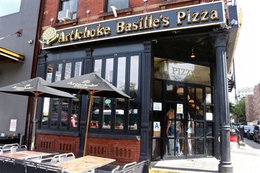 Artichoke Basille's Pizza, at 114 10th Ave., at the corner of West 17th Street.