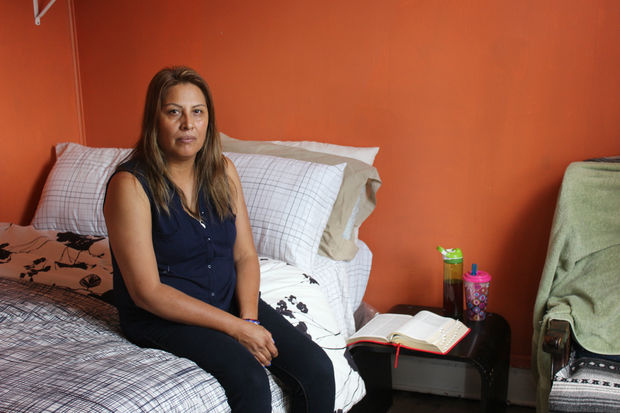 Francisca Lino, 50, of suburban Bolingbrook, has moved into the Humboldt Park church at 2716 W. Division St. to avoid deportation.