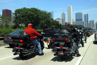 Unmuffled motorcycles on Lake Shore Drive are among the targets of a noise-monitoring system.