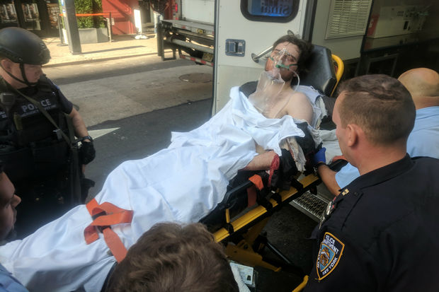 The man was taken to Mount Sinai West in stable condition, officials said.