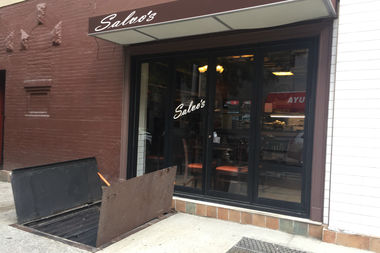 Burglars cut the lock to the basement at Salvo's Pizzabar at 1477 York Ave. and took a cash register worth $200 and $150 in cash that was inside of it, police said.