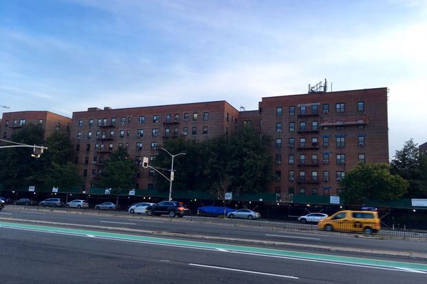 The city is testing the water at 93-10 Queens Blvd.after two residents got sick with Legionnaires' disease over a 12-month period, officials said.