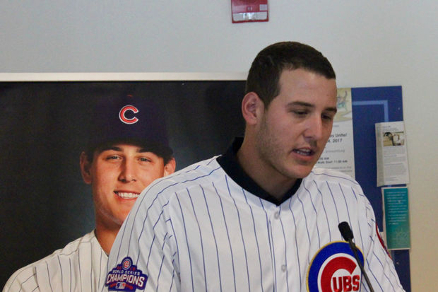Watch Rizzo Get Choked Up At The Lurie Children's Hospital Donation Unveiling