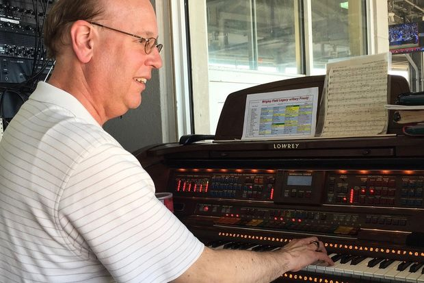 Gary Pressy has played the organ at Wrigley Field for every game since 1987.