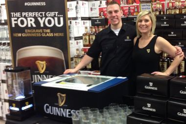 A glass cutting crew from Guinness will be at Cork & Kerry in Beverly from 6-8 p.m. Sept. 16 for a halfway to St. Patrick's Day 2018 party. The first 50 customers will be able to get a free, customized Guinness pint glass.