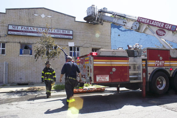 FDNY extinguished a fire that broke out Wednesday at Mt. Paran Baptist Church in Brooklyn.