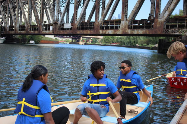 A group of Chicago kids completed a two-week camp where hey built a boat. The group tested those boats on the Chicago River Wednesday, Aug. 30.
