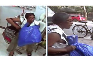 Police are looking for a woman they say took a nail salon employee's purse from her desk.