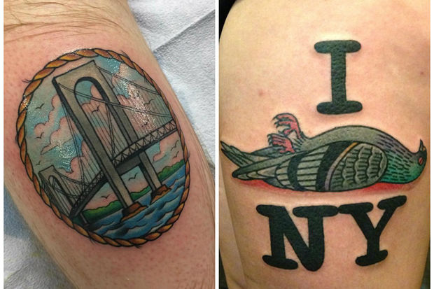 New yorkers show off their big apple inspired tattoos for Free tattoos nyc 2017