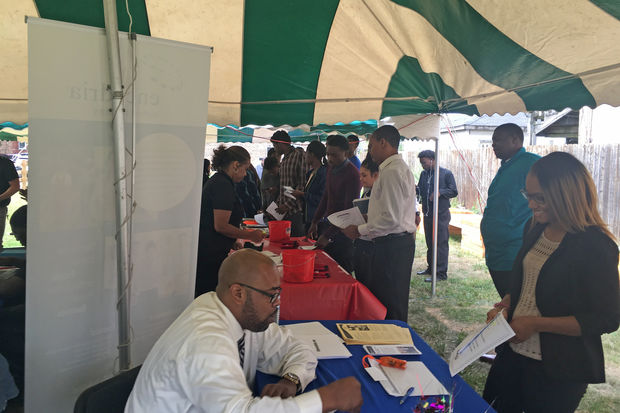 More than 300 showed up for the job fair.