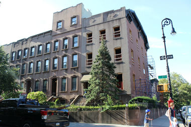 The corner brownstone boasts 9,000-square feet, which is triple the size of the average brownstone.