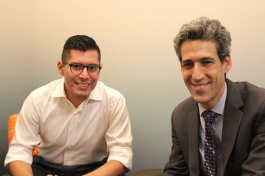Democratic candidate for governor Daniel Biss, right, named rookie Ald. Carlos Ramirez-Rosa (35th) to be his running mate for the 2018 campaign.