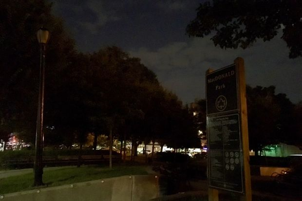 Several lights inside MacDonald Park in Forest Hills have been out since March, locals said.