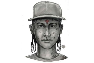 The NYPD released this sketch of the suspect before Suero was arrested.