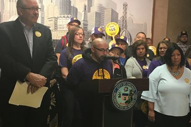Danny Rodriquez, who has worked at O'Hare's International Terminal for a year and a half, said the pay bump and new benefits would make it possible for him to take care of his grandmother.