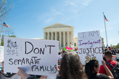 A rally in Washington, D.C., designed to encourage lawmakers to preserve the Deferred Action for Childhood Arrivals program.