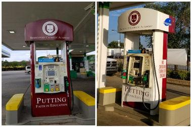 Pump Gas Here, Donate To Bridgeport School - Bridgeport