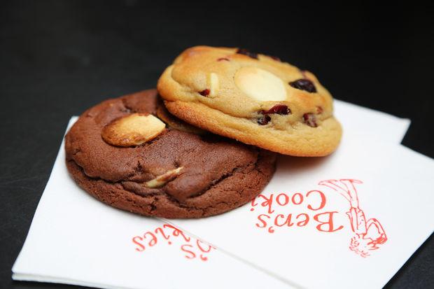 Cookies from Ben's Cookies.