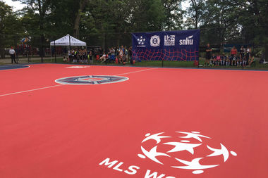 The Chicago Fire, along with Mayor Rahm Emanuel and Chicago Police, unveiled two new mini soccer fields at Gage Park.
