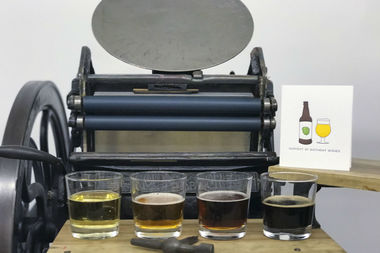 Local print maker Kate Murray is fusing her passions for beer and printing with a calendar that highlights seasonal pints by local breweries.