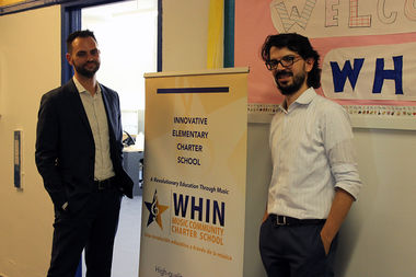 The founders of the WHIN Music Community Charter School, David Gracia and Charles Ortiz, said the school is the first of its kind in the city.