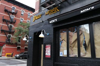 The former Jolly Monk space at 701 Ninth Ave., at the corner of West 48th Street.