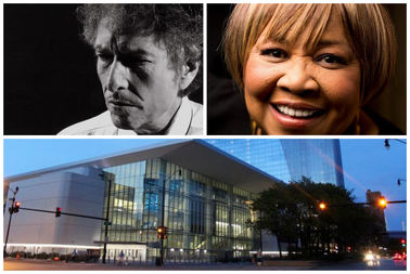 Bob Dylan and Mavis Staples will join forces to open the new Wintrust Arena near McCormick Place on Oct. 27, Mayor Rahm Emanuel's office announced Monday.