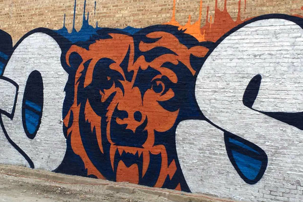 Chicago Bears Mural Lincoln Square