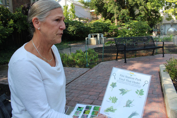 Sally Drucker said Fire Station Park is ready to serve any interested science classes from area schools in helping to identify various herbs and flowers.