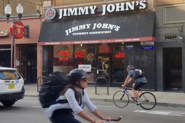 Jimmy John's is located at 1557 N. Milwaukee Ave.