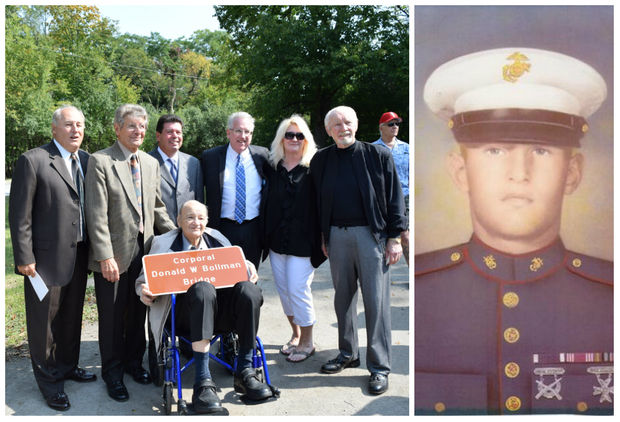 State Sen. John Mulroe (D-Chicago) and State Rep. Michael McAuliffe (R-Chicago) joined members of Cpl. Donald Bollman's family to name the bridge in his honor.