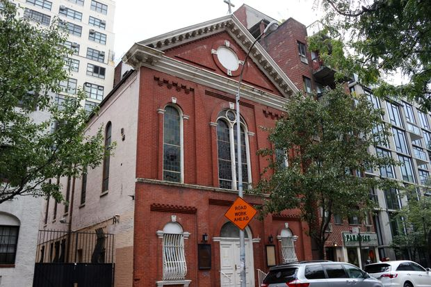 St. Benedict the Moor Church, at 342 W. 53rd St., between Eighth and Ninth avenues.