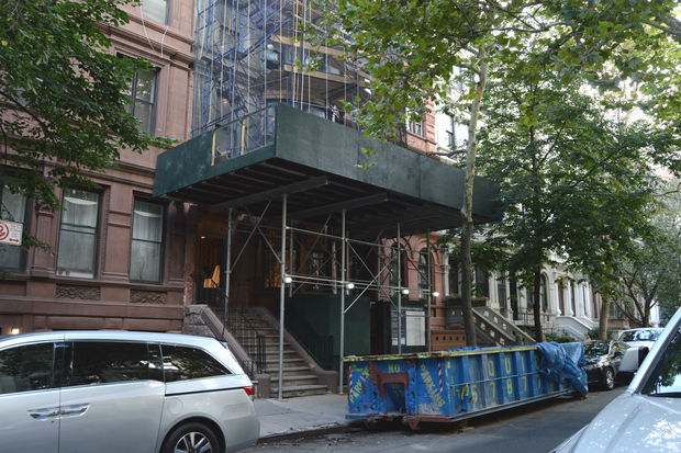Interior renovations at the West 76th Street townhouse are still ongoing after nearly three years.