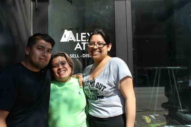 The Marquez family is aiming to debut Alex's Attic, 2733 N. Milwaukee Ave., the first week of October. Frank Marquez, Anna Marquez and Jamie Marquez (from left) are pictured.