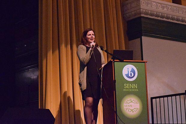 Senn High School Principal Mary Beck has pledged to run the Chicago half- marathon to raise money for her teachers and set a good example of self-care, she said.