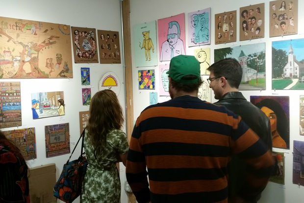 The 15th anniversary Art on Cardboard show will take place beginning at 6 p.m. Oct. 6.