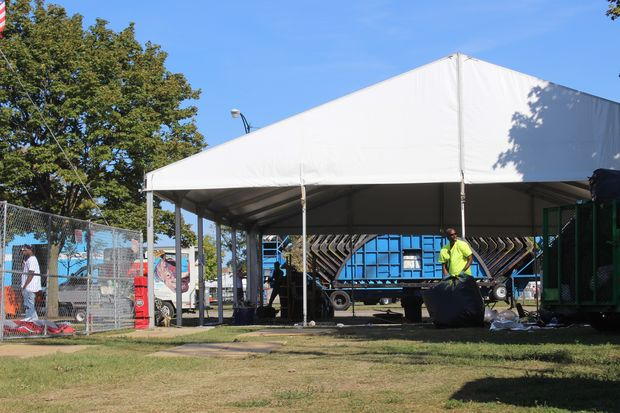 Crews were at Douglas Park Monday cleaning up from the three-day Riot Fest.