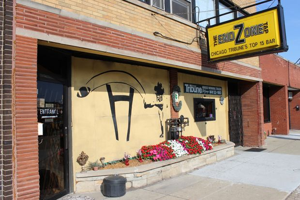 The End Zone Tap is for sale. The bar at 10036 S. Western Avenue is listed at $455,000, which includes the building. A three-bedroom apartment and boutique are also part of the property.