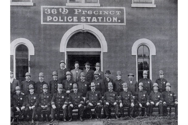 A 1907 photo of the 36th Precinct Police Station, two years after Shep's death and 15 years before the building was demolished to make way for a Bank of America building