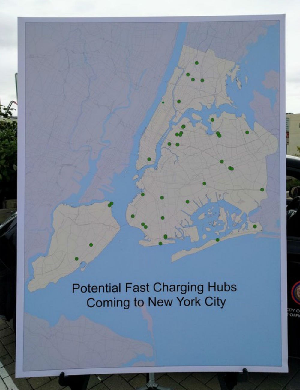 Map of Charging Hubs