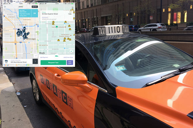 Curb and Arro are apps that can be used to hail taxis in Chicago.