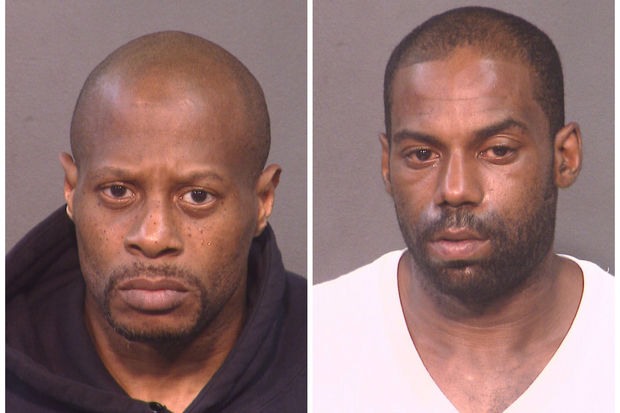 Antwyne Lucas (left) was convicted for the gunpoint robbery of a priest outside his Port Richmond church in 2016. His accomplice, Kerry Pack, previously plead guilty to attempted robbery and was sentenced to 25 years to life in prison.