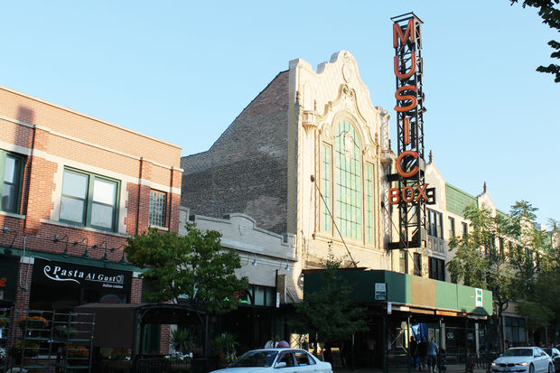 The Music Box Theatre's marquee is undergoing renovations for the first time in the theater's 88-year history. The work will be completed by Nov. 1.