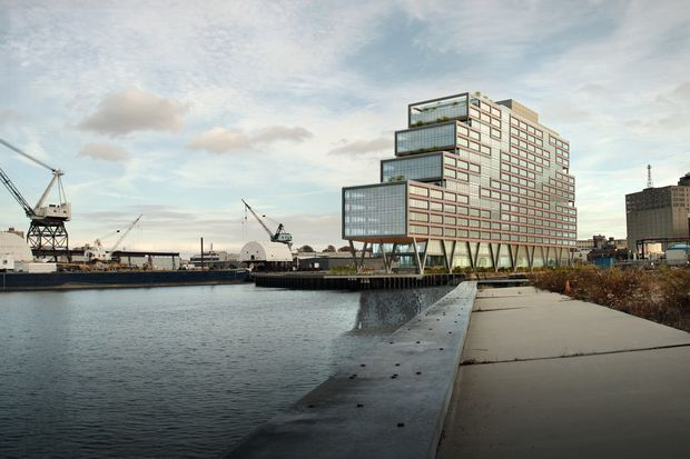 A rendering of Dock 72 at the Brooklyn Navy Yard.